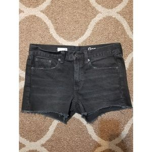 Gap Black Denim Shorts